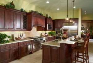 iStock Dark Wood Kitchen
